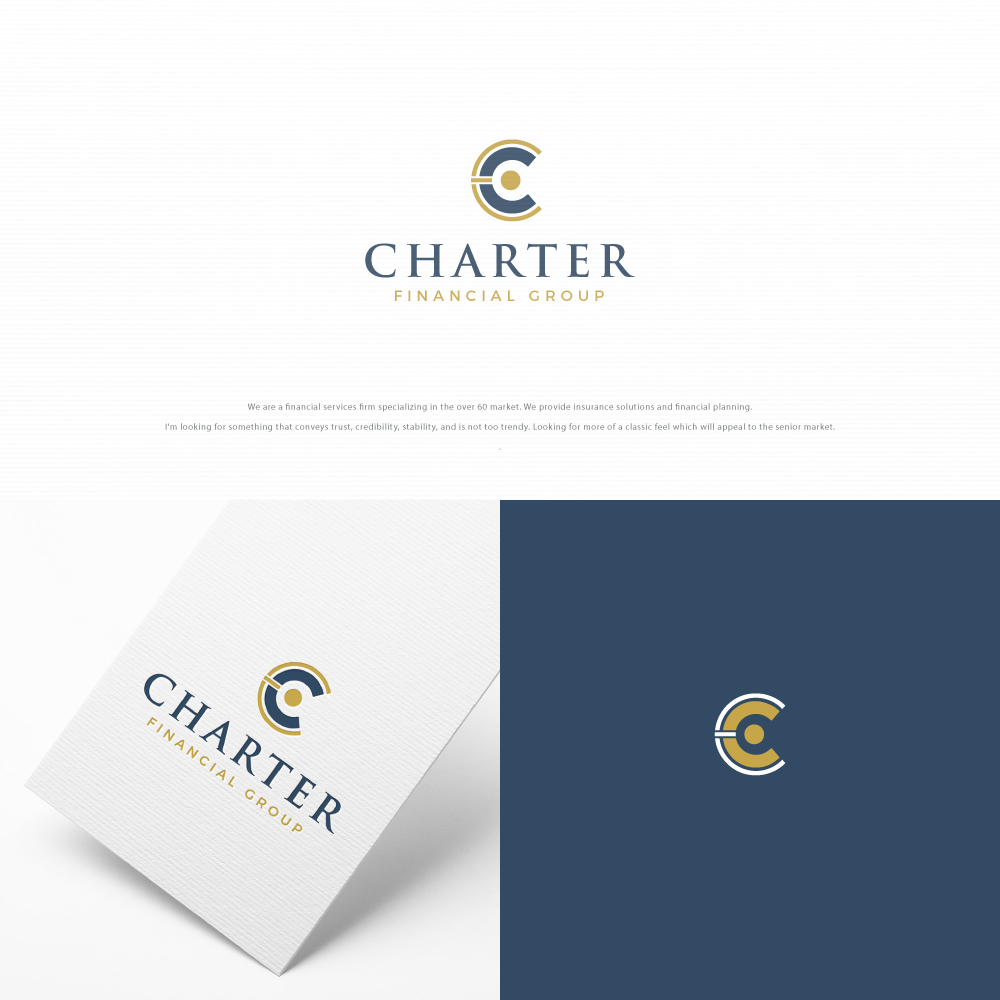 Create a classic logo for a financial firm marketing to the over 50 crowd.