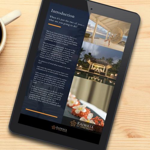 Luxury honeymoon ebook layout