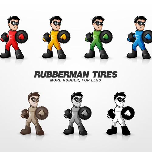Rubberman Tires Mascot