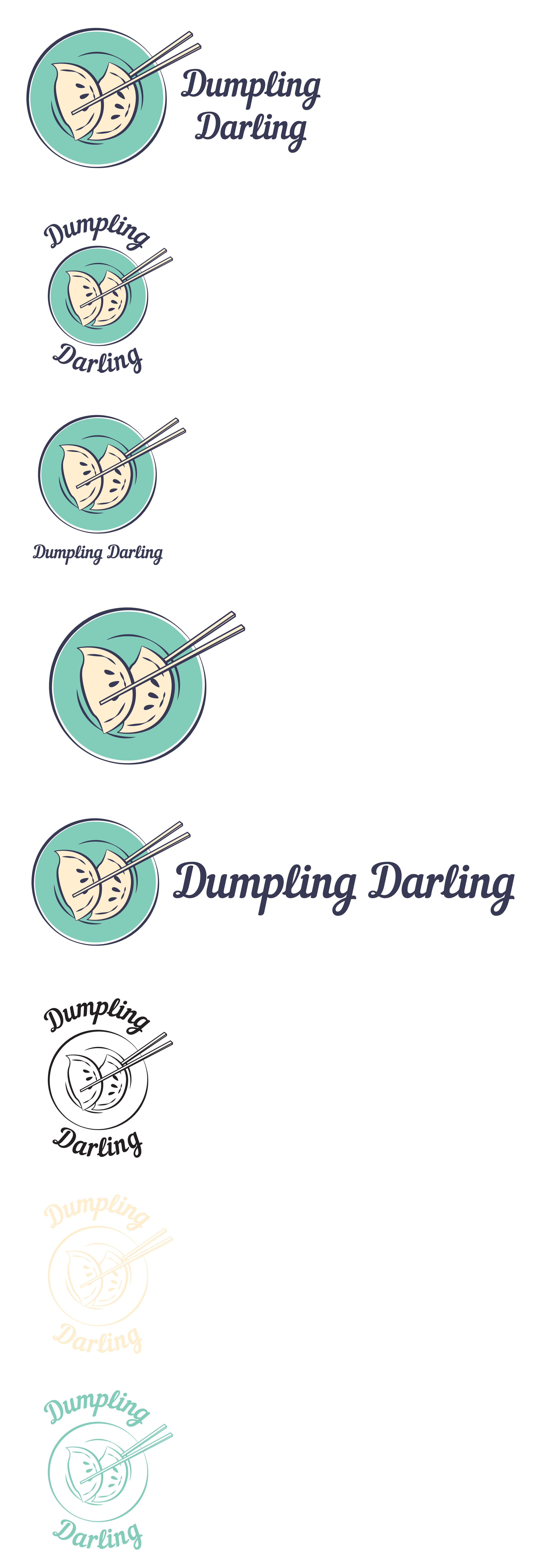 In need of an attractive logo for our new food stall business - Dumpling Darling