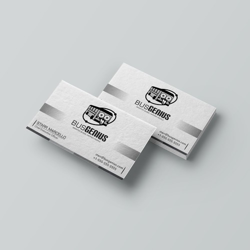 LOGO & BUSSINESS CARD FOR BUS GENIUS