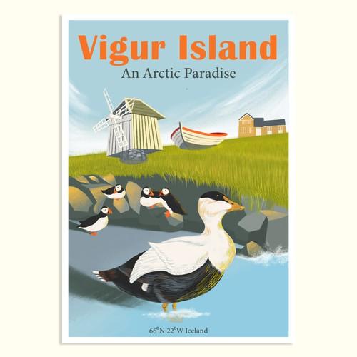Poster Design for Tourism on Vigur Island