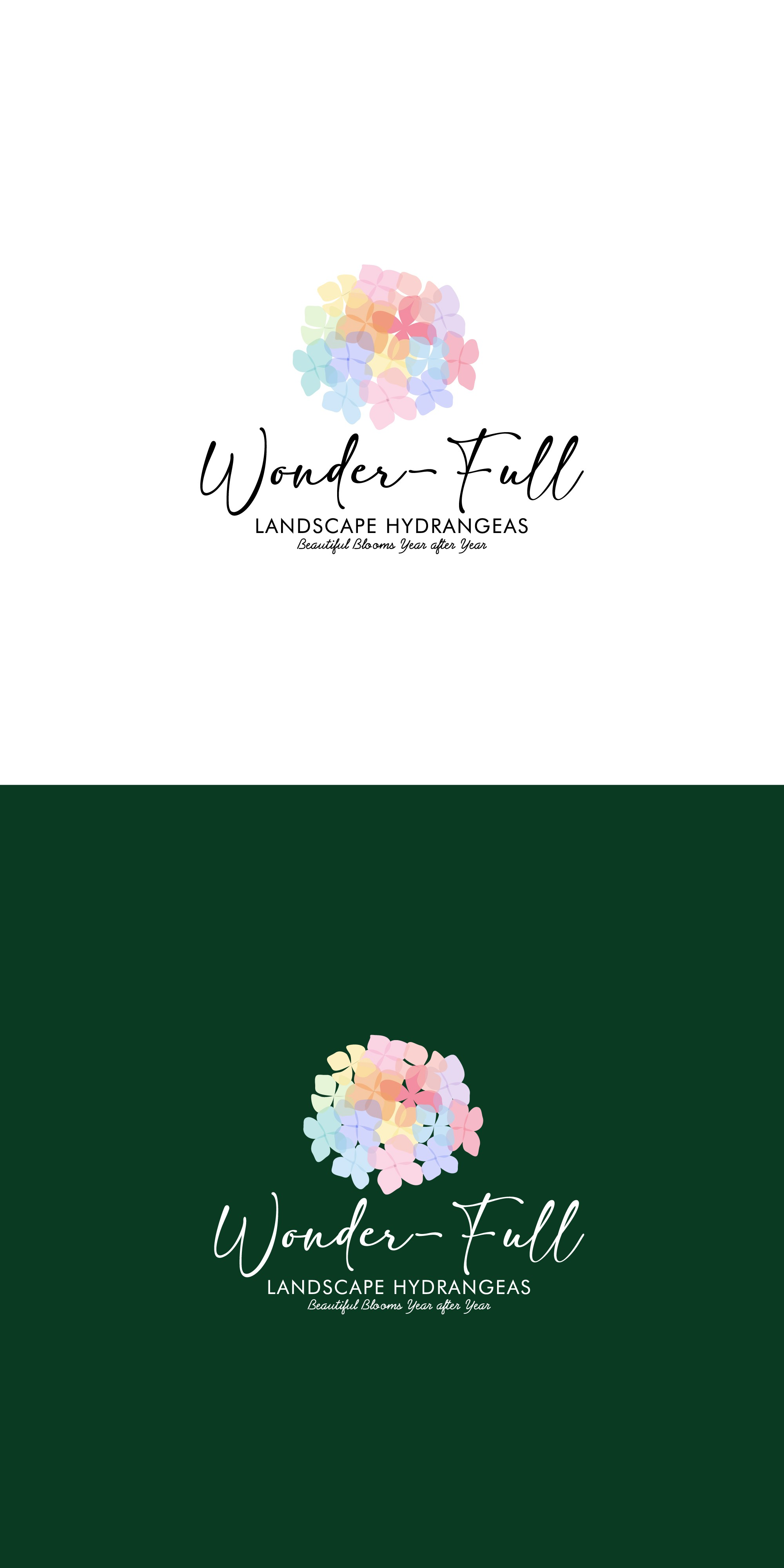 Create a logo for a new brand of HYDRANGEA plants!