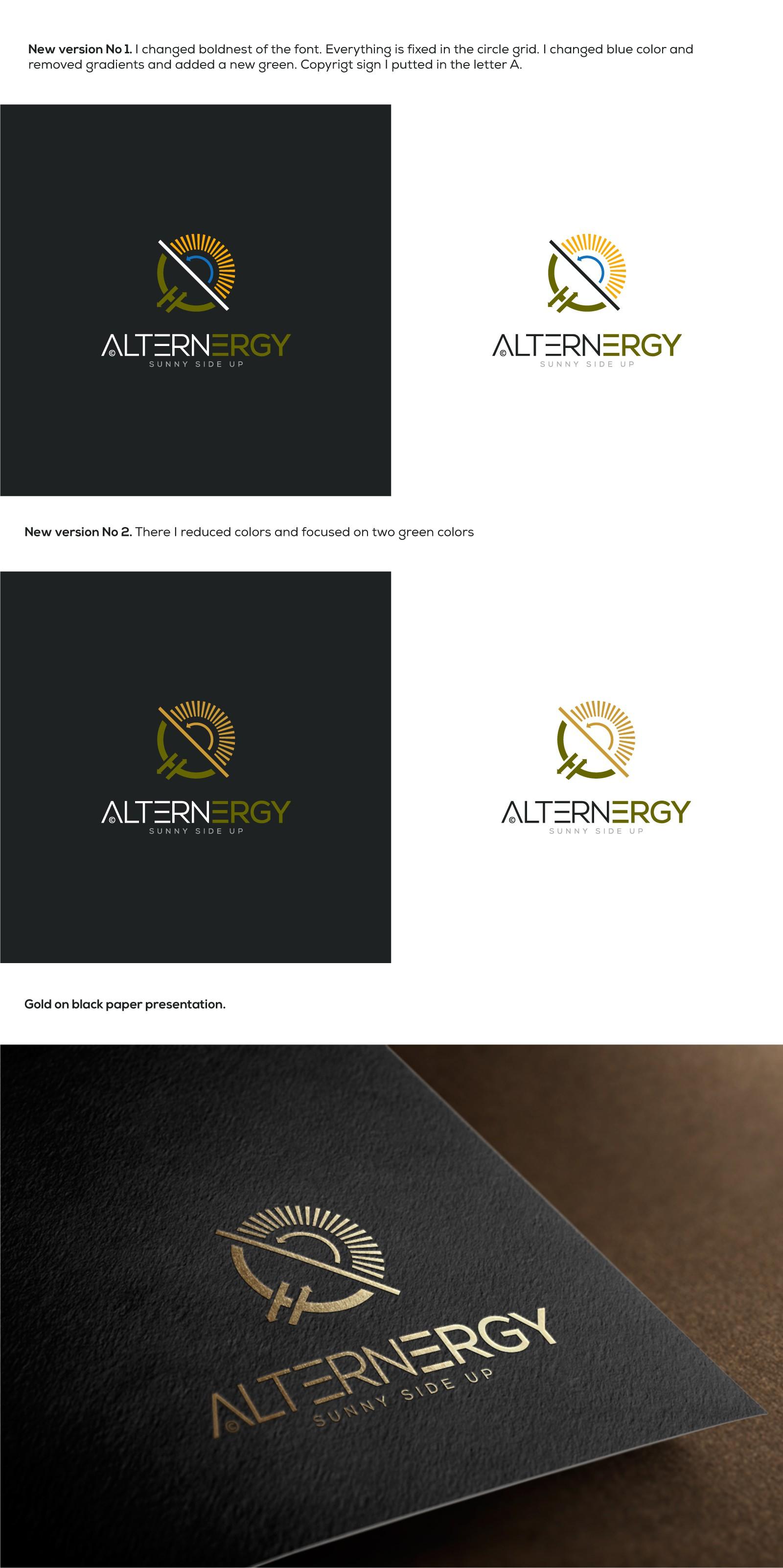 Erstelle ein Hippster-Logo mit den Elementen Erneuerbare Energien, Finanzen und Steuern