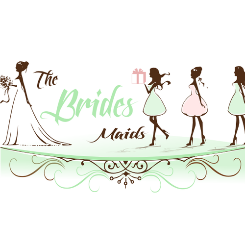 Create the next logo for The Bride's Maids