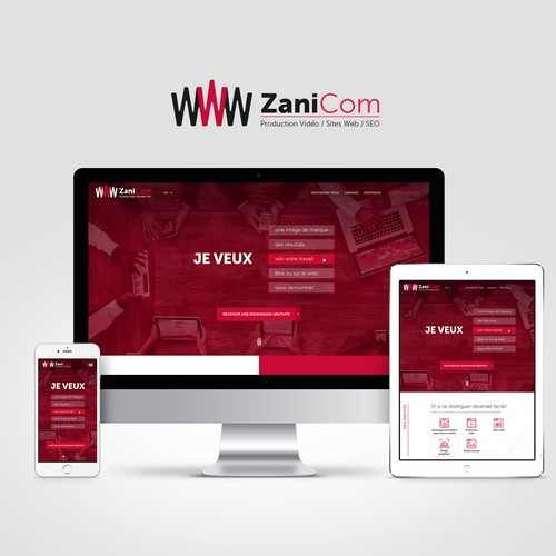 Responsive website for marketing company