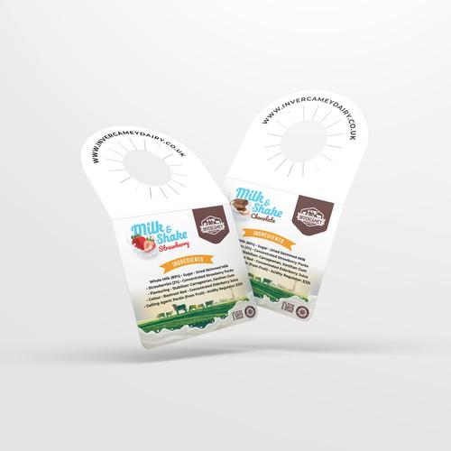 Milk shake bottle tag design