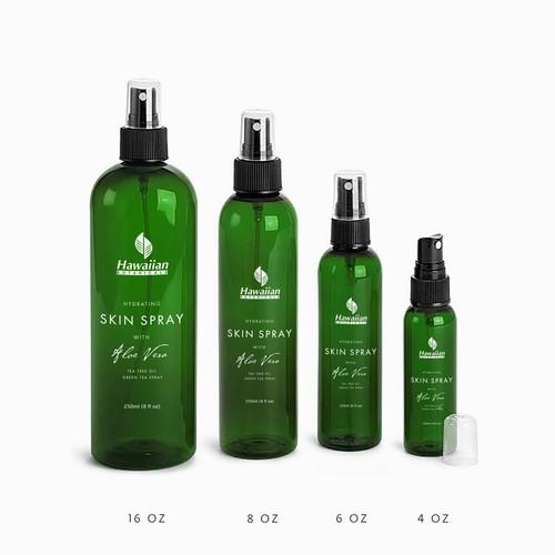 Aloe Vera Spray label design.