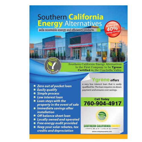 postcard or flyer for Southern California Energy Alternatives