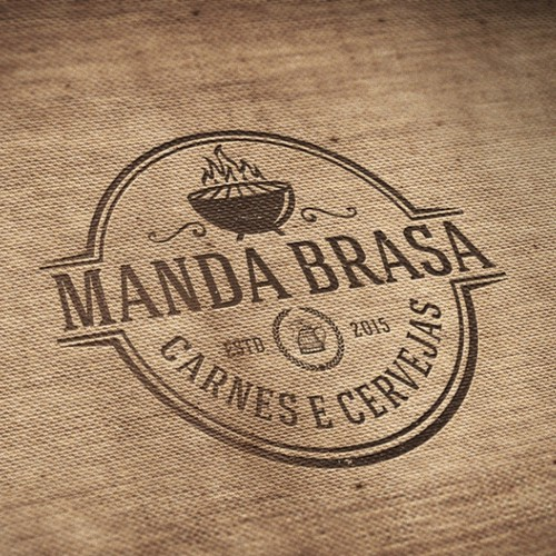 Logo Manda Brasa Restaurant