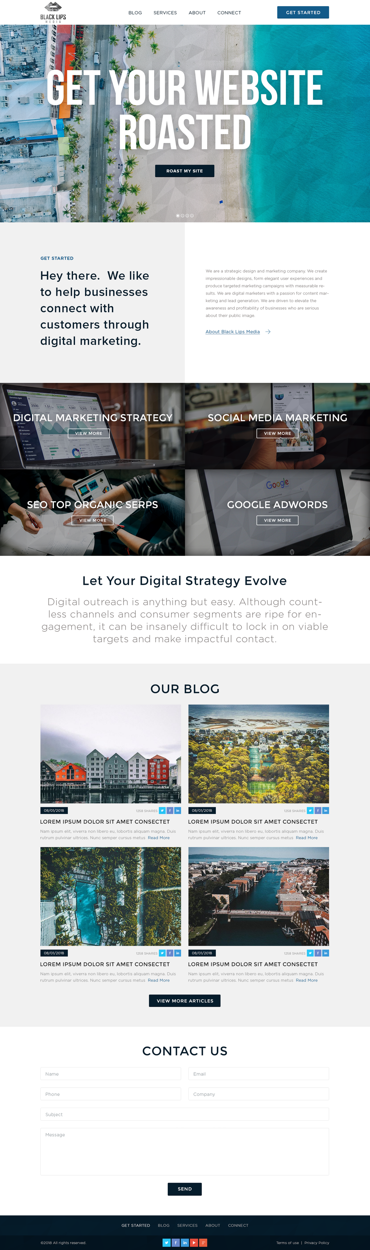 I'm looking to create a stunning website for my digital marketing agency
