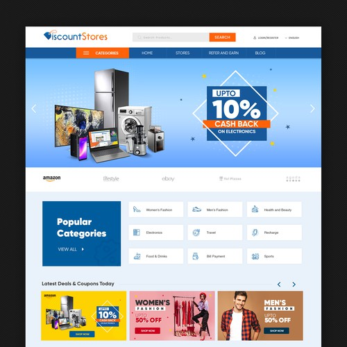 Shopping Web Page Design