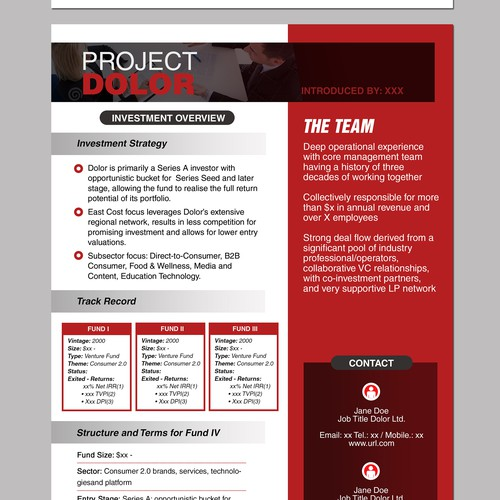 Brochure for a company