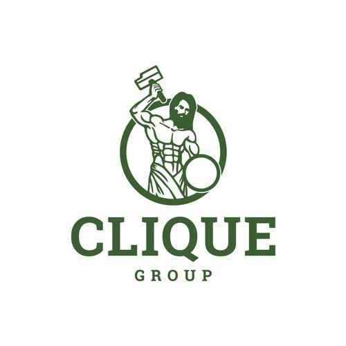 Clique Group logo design