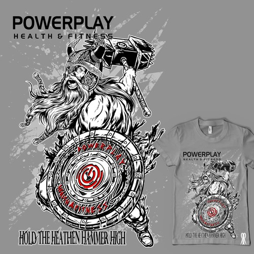 Create a Must Have T-Shirt Print Design for an Awesome Heavy Lifting Gym