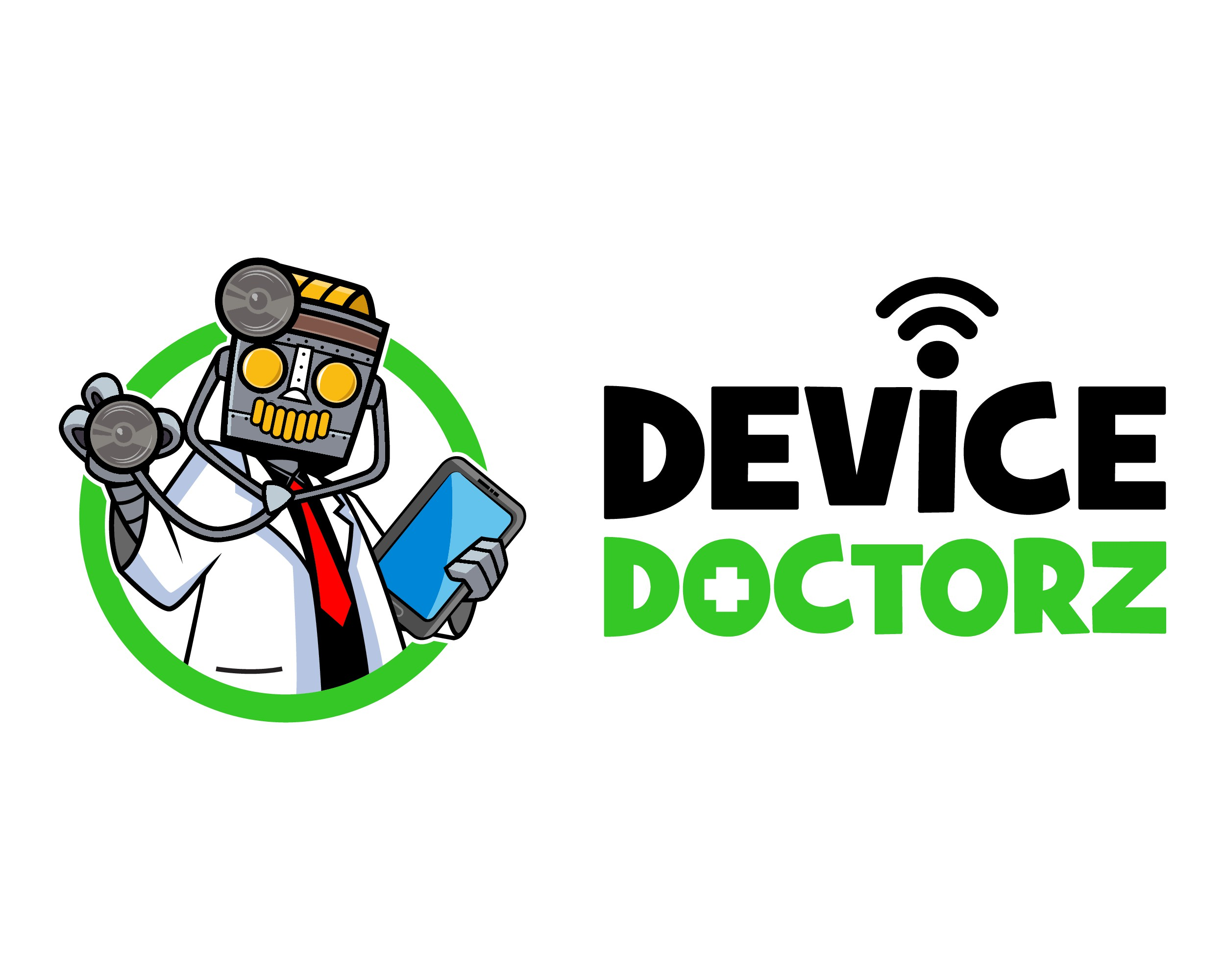 Trendy new brand design - Logo and Mascot - for Device Doctorz