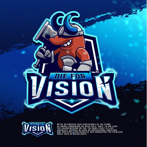 "Logo for a Gaming Team ""Die For Vision""."