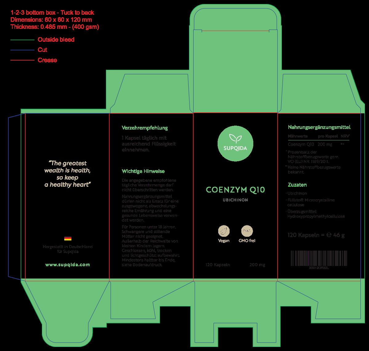 Design packaging box - Dietary supplement
