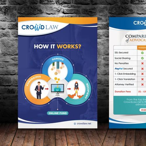 Flyer for online funding