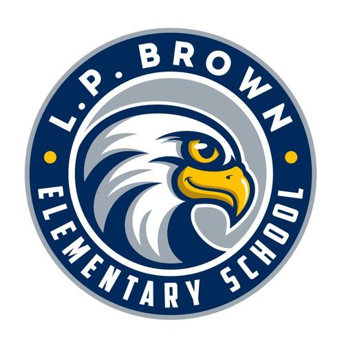 Re-branding eagle logo for L.P. Brown Elementary School