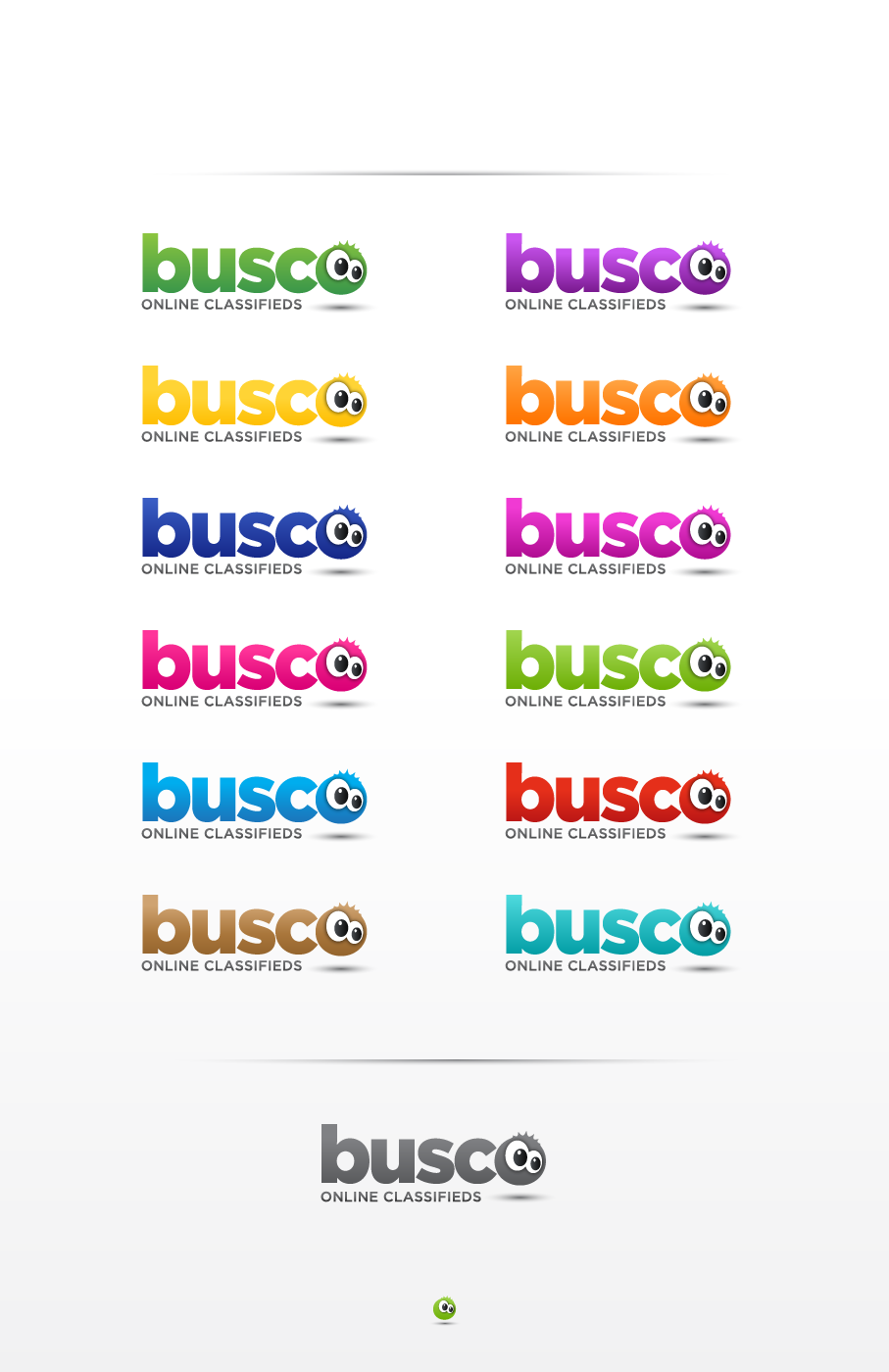 "Logo for BUSCO.es (Spanish: ""I search"")"