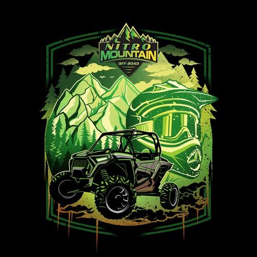 T-shirt Design for Nitro Mountain Off-road