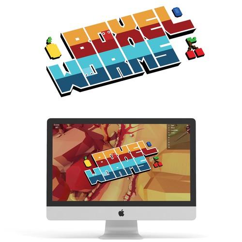 Boxel Worms Game Logo