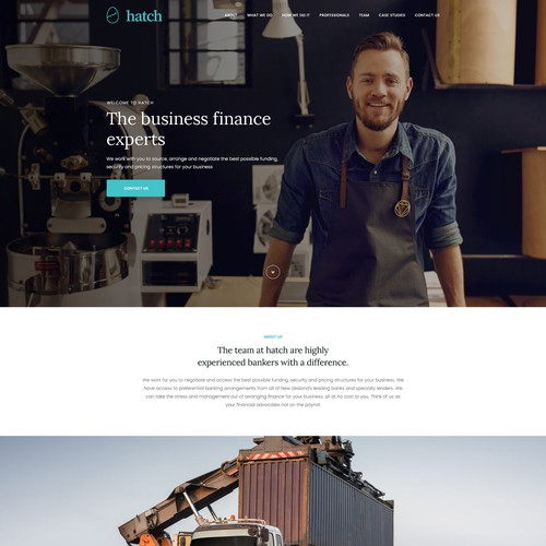 Financial company redesigned