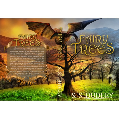 Book cover for second volume of a children's fantasy series based in the foothills of California