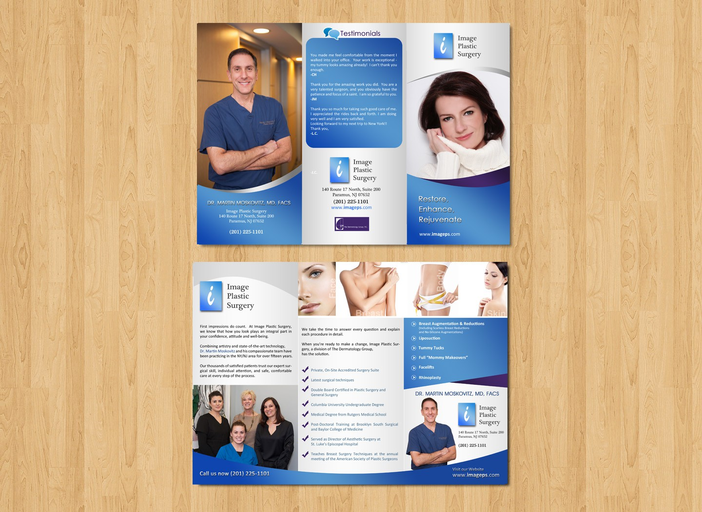 Help Image Plastic Surgery with a new brochure design