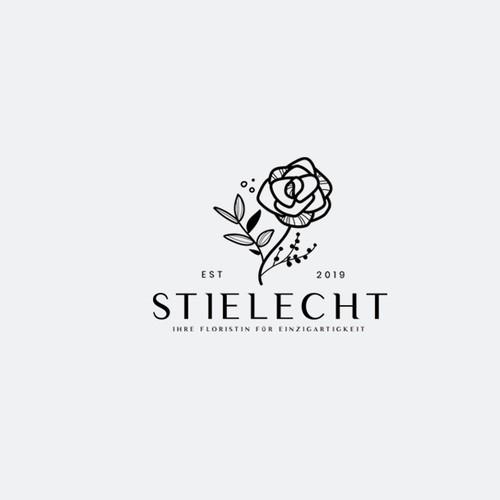 Beautiful florist logo design