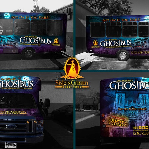 ghost bus wrap