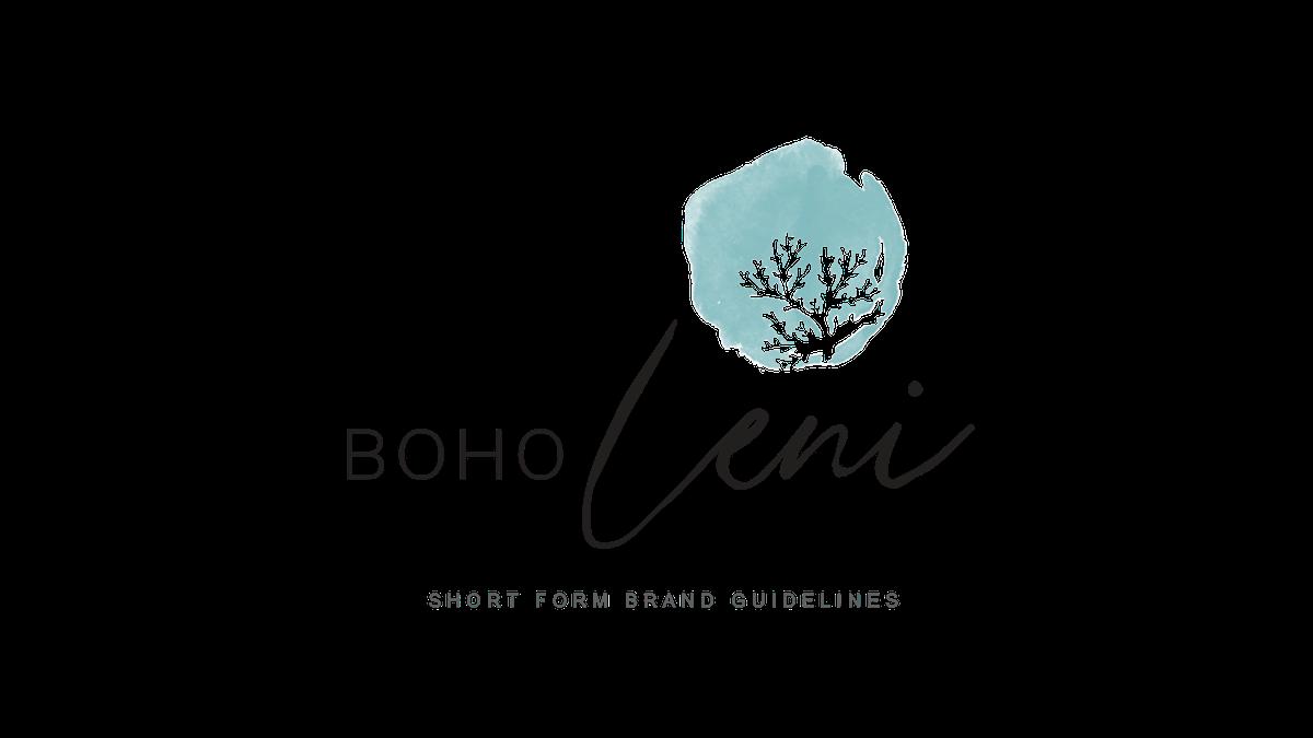 Logo for a Boho women's clothing brand BOHO Leni