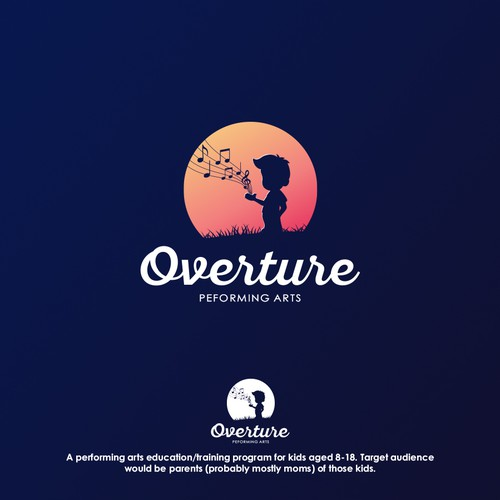 Cute logo for Overture Peforming Arts