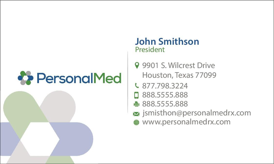 Business Card Design for Pharmaceutical Network