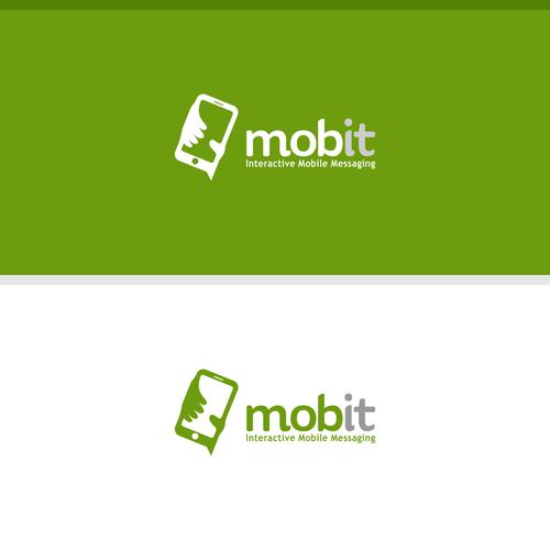 Negative Space logo for Mobile Company
