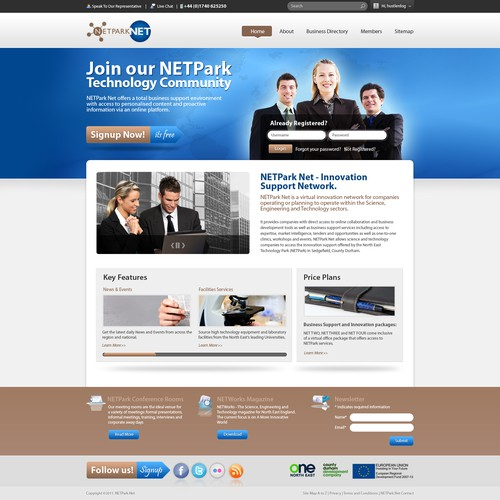 Help NETPark Net with a new Web Page Design