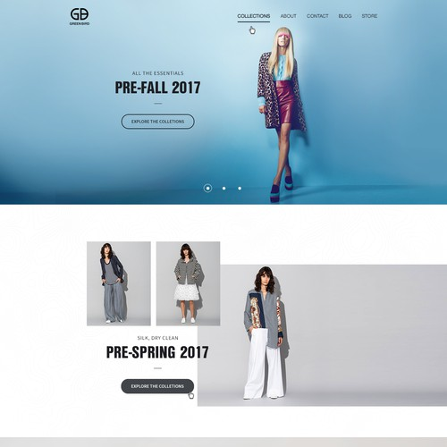 Design a Fashion Boutique Website for Green Bird