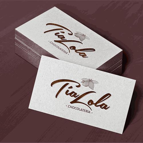 Diseño de Logo Chocolatería Tía Lola