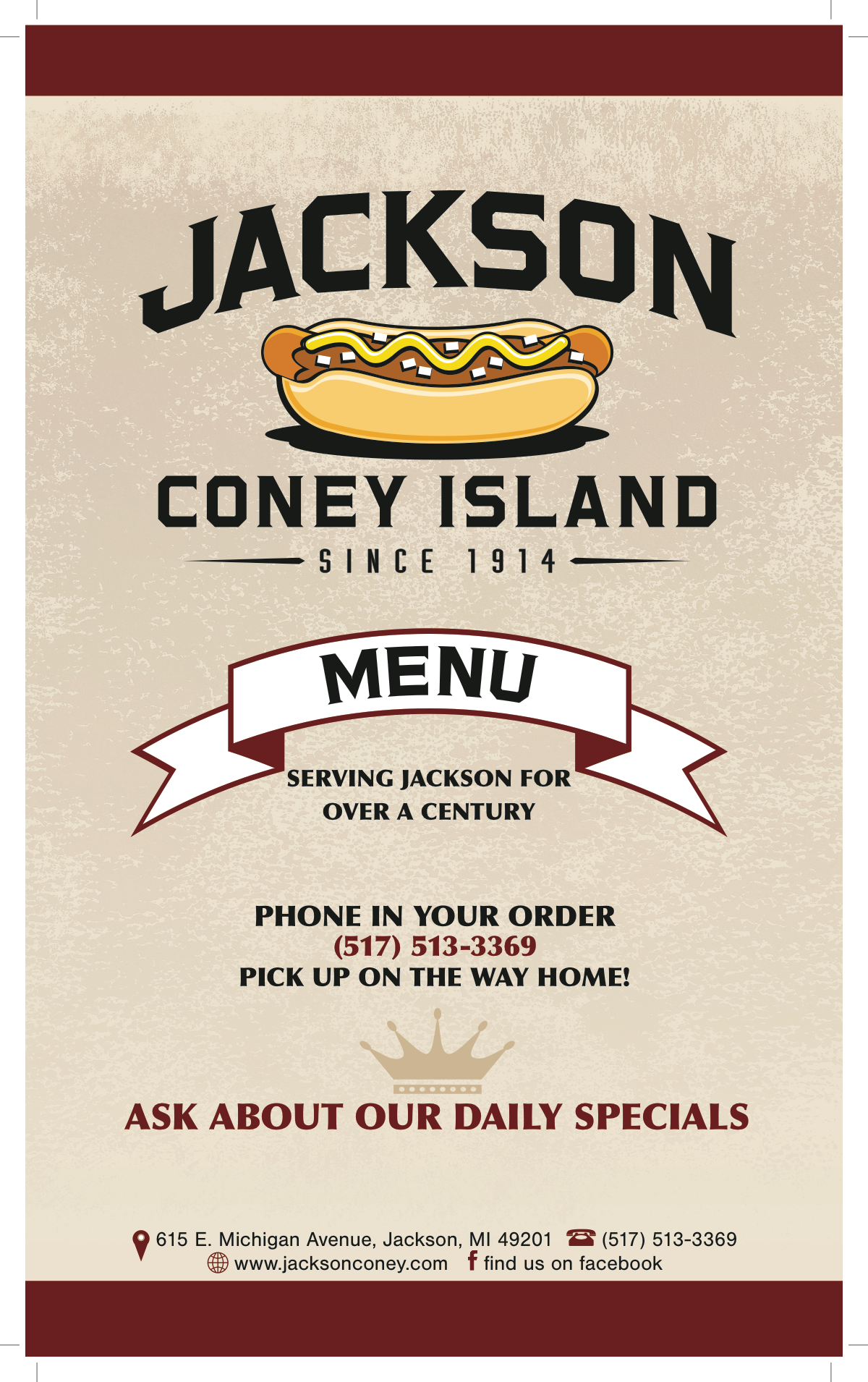 Menu updates for print and board