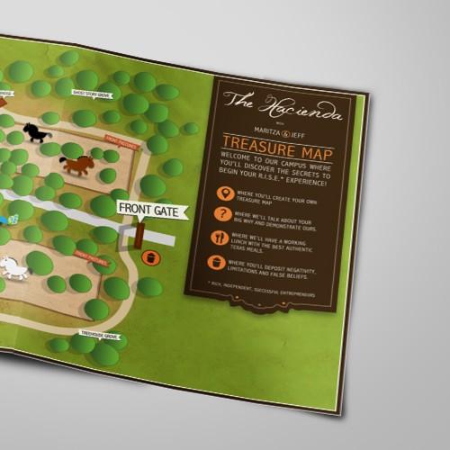 Create the next illustration for The Hacienda - Treasure Map