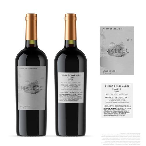 Malbec wine label V1