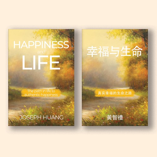 Book Cover Concept for Happiness And Life