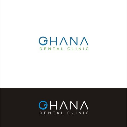 Modern dental clinic logo with a Hawaiian flare
