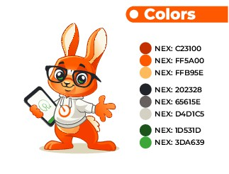 Cute geeky fun rabbit or monster for techies