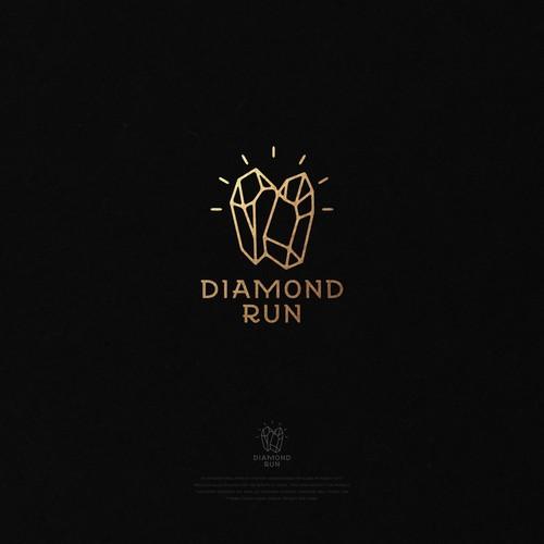 logo luxury diamond run