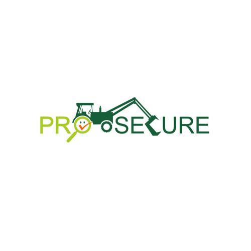 professional logo around the prevention and safety of agricultural machinery