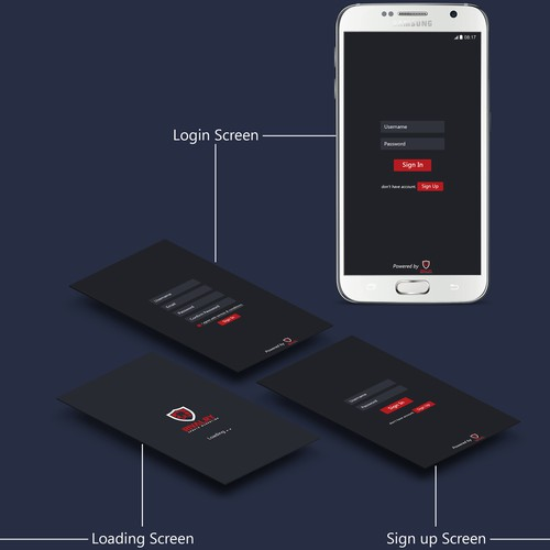 Rivalry Mobile app design