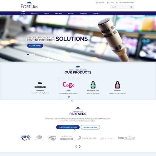 Create an inspiring clean modern website for a software technology company