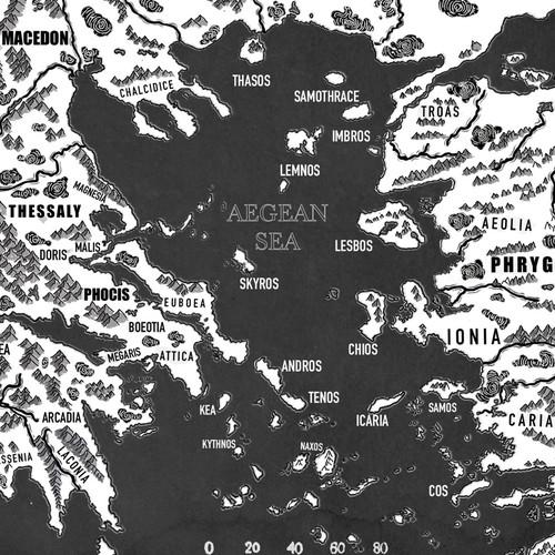 Fantasy Map design of Egypt